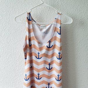 Cow Cow Anchor Dress Size Large